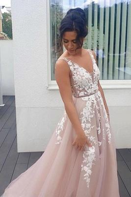 Abendkleider Lang V Ausschnitt | Boho Kleid Mit Spitze_1