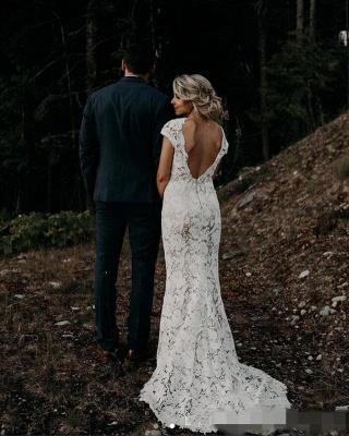 Simple mermaid wedding dress | Buy wedding dresses online_4