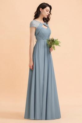 Schöne Abendkleider Stahlblau   Brautjungfernkleider Lang Günstig_7