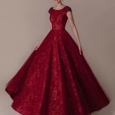Rote Abendkleider Lang Glitzer | Abendmoden Online Kaufen_2