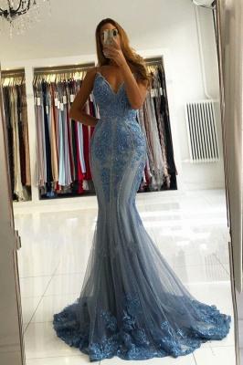 Blaue Abendkleider Lang Glitzer | Abiballkleider Mit Spitze