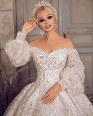 Extravagante Brautkleider | Prinzessinnen Brautkleider Mit Ärmel_5