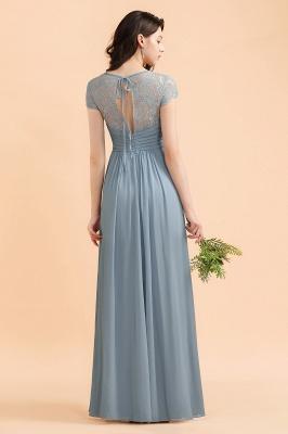 Schöne Abendkleider Stahlblau   Brautjungfernkleider Lang Günstig_3