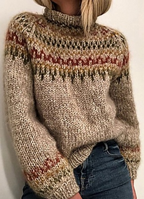 Christmas sweater women | Gray knitted sweater_1