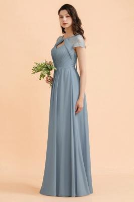 Schöne Abendkleider Stahlblau   Brautjungfernkleider Lang Günstig_5