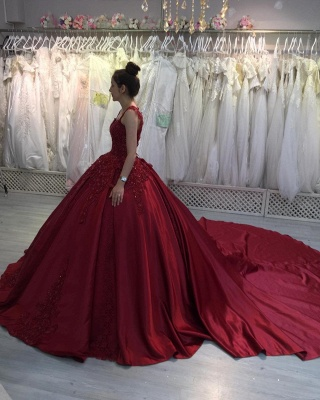 Princess Evening Dresses Wine Red | Prom dresses with lace_3