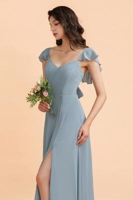 Brautjungfernkleider Stahlblau Lang Günstig   Kleider Für Brautjungfern_7