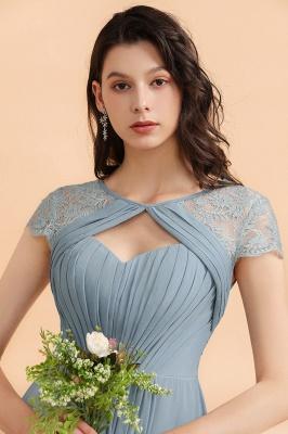 Schöne Abendkleider Stahlblau   Brautjungfernkleider Lang Günstig_9