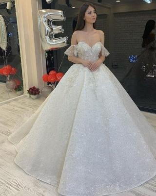 Elegante Brautkleider Glitzer | Hochzeitskleid A Linie_2