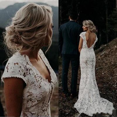 Schlichtes Meerjungfrauen Hochzeitskleid | Brautkleider Online Kaufen_2