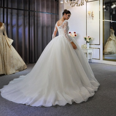 Extravagant wedding dresses with sleeves | Fancy wedding dresses princesses_2