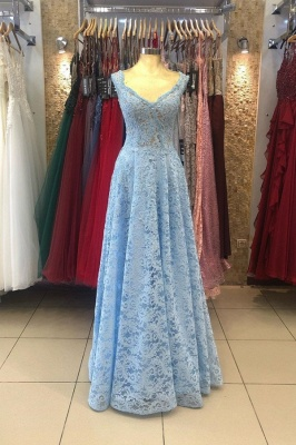 Heller Blaue Abendkleider Umstandsmode | Mascara Kleider mit Spitze_1