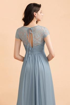 Schöne Abendkleider Stahlblau   Brautjungfernkleider Lang Günstig_8