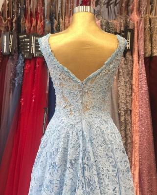Heller Blaue Abendkleider Umstandsmode | Mascara Kleider mit Spitze_5