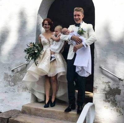Designer Brautkleid V Ausschnitt | Hilo Hochzeitskleid A Linie Mit Spitze_4