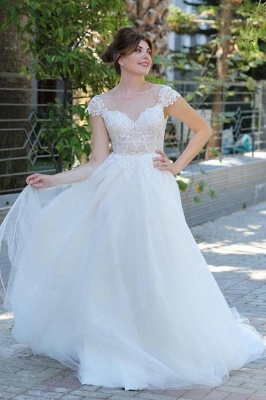 Simple wedding dresses with lace | dresses for wedding online_1