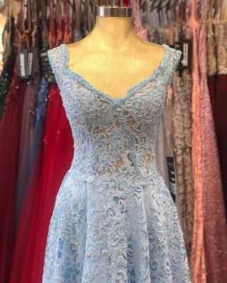 Heller Blaue Abendkleider Umstandsmode | Mascara Kleider mit Spitze_4
