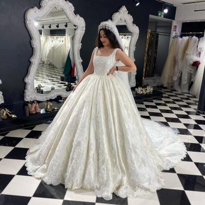 Extravagante Brautkleider A Linie | Hochzeitskleider mit Spitze_2