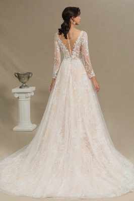 Designer wedding dress A line lace | Wedding dresses with sleeves_12