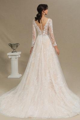 Designer Brautkleid A Linie Spitze | Hochzeitskleider mit Ärmel_12