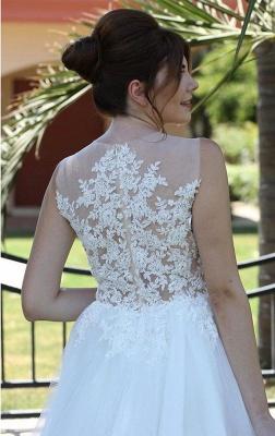 Weiße Brautkleider mit Spitze | Schlichte Hochzeitskleider Kaufen_2