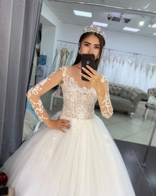 Elegant wedding dresses with sleeves | Wedding dresses princess lace_4