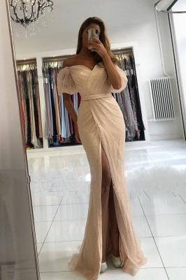 Abendkleider Lang Glitzer | Festliche Kleider mit Ärmel