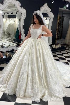 Extravagante Brautkleider A Linie | Hochzeitskleider mit Spitze_1