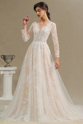 Designer Brautkleid A Linie Spitze | Hochzeitskleider mit Ärmel_6