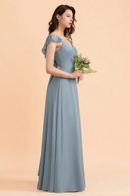 Brautjungfernkleider Stahlblau Lang Günstig   Kleider Für Brautjungfern_9