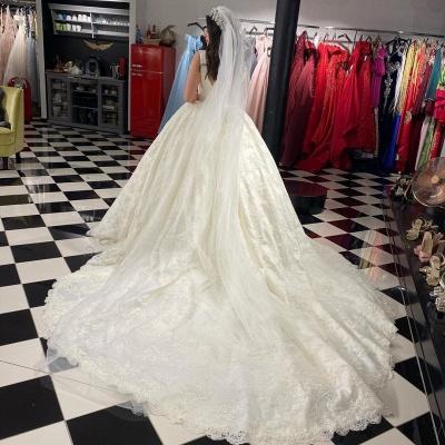 Extravagante Brautkleider A Linie | Hochzeitskleider mit Spitze_4