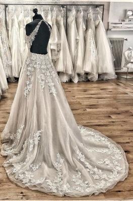 Designer wedding dress A line | Gorgeous wedding dresses with lace_4