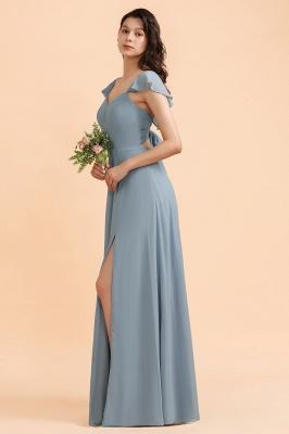 Brautjungfernkleider Stahlblau Lang Günstig   Kleider Für Brautjungfern_6