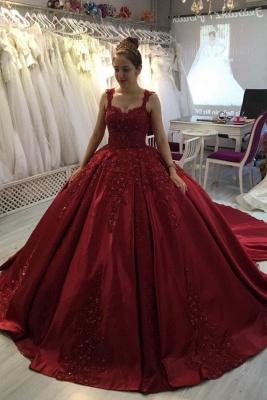 Prinzessin Abendkleider Weinrot | Abiballkleider mit Spitze