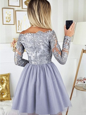 Cocktail dresses with sleeves | Short prom dresses glitter_3