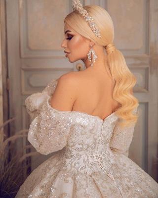 Extravagante Brautkleider | Prinzessinnen Brautkleider Mit Ärmel_3