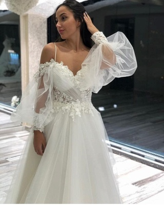 Simple wedding dresses with sleeves | Wedding Dresses Lace Online_3