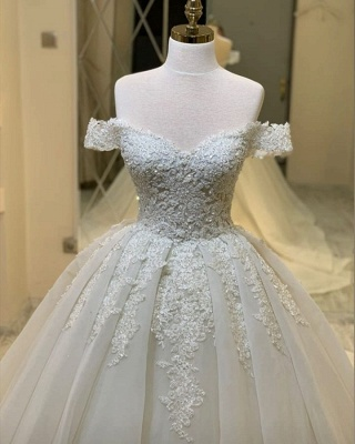 Elegant wedding dresses with lace | Wedding Dress A Line Online_4