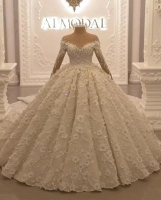 Luxury wedding dresses with long train order online wedding dresses_1
