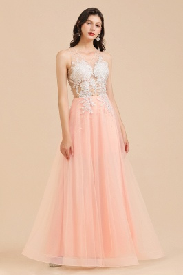 Designer evening dresses | Evening dress long pink_7