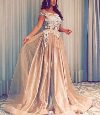 Simple evening dresses long cheap | Prom dresses with lace_2
