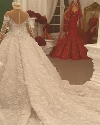 Luxury wedding dresses with long train order online wedding dresses_4