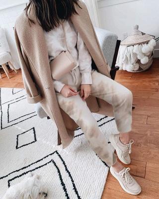 Weißer Pyjama Damen | Schlafanzug Lang mit Bündchen_7