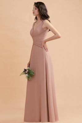 Brautjungfernkleider Lang Altrosa   Chifon Kleider Für Brautjungfern_4