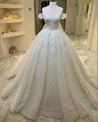 Elegant wedding dresses with lace | Wedding Dress A Line Online_2
