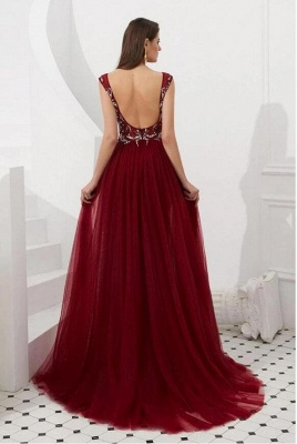 Wine red evening dresses long cheap | Buy evening wear online_2