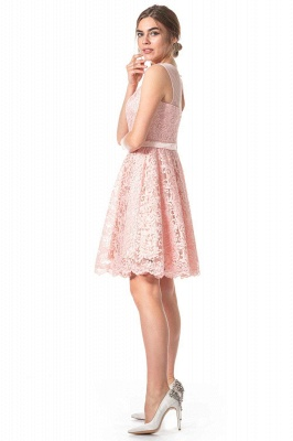 Pink Lace Cocktail Dresses | Short prom dresses online_2