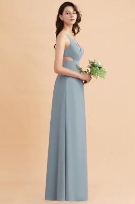 Brautjungfernkleider Lang Blau | Chiffon Kleider Für Brautjungfern Günstig_8