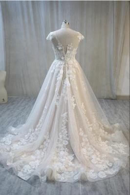 Elegante Hochzeitskleid A Linie mit Spitze | Brautmoden Online_2