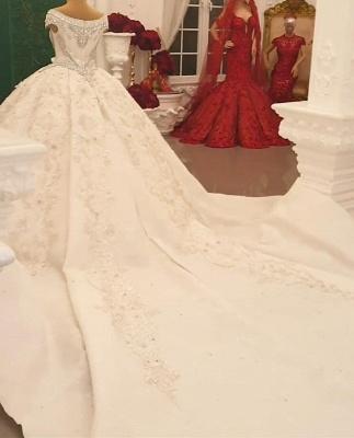 Brautkleid Vintage Lange Ärmel | Hochzeitskleid Tüll Prinzessin_3
